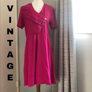 Vintage 80's woven midi dress